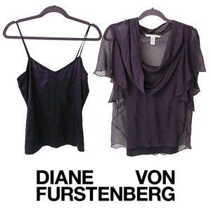 DVF Blouse | Diane Von Furstenberg Two Piece Top